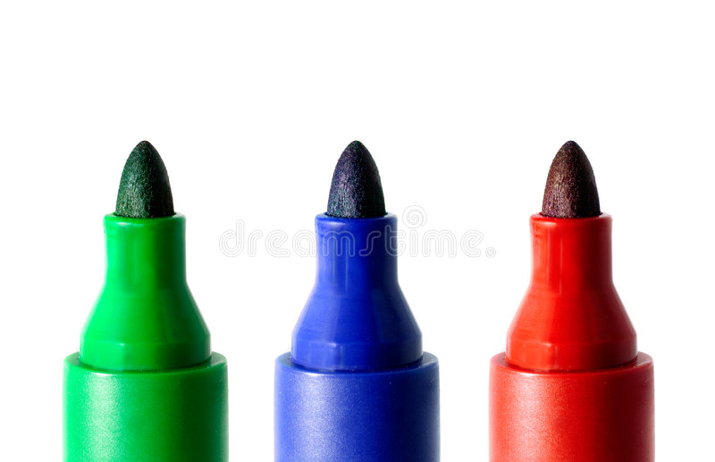 Markers. Stock Photo
