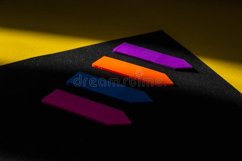 Markers under the sun, office study stationery stock photography