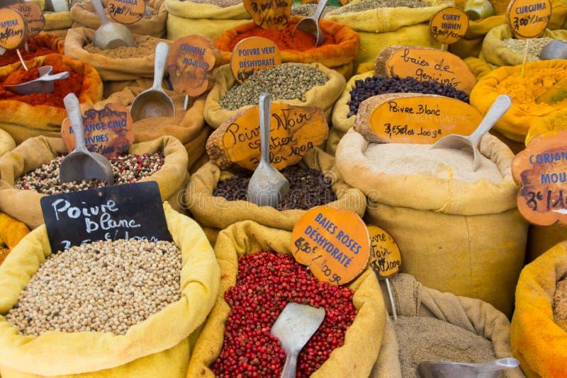 A market in Ajaccio Corsica. A market with lot of herbs in Ajaccio Corsica stock image