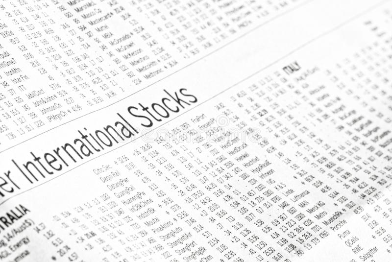 Market Analysis Of International Stocks stock photography