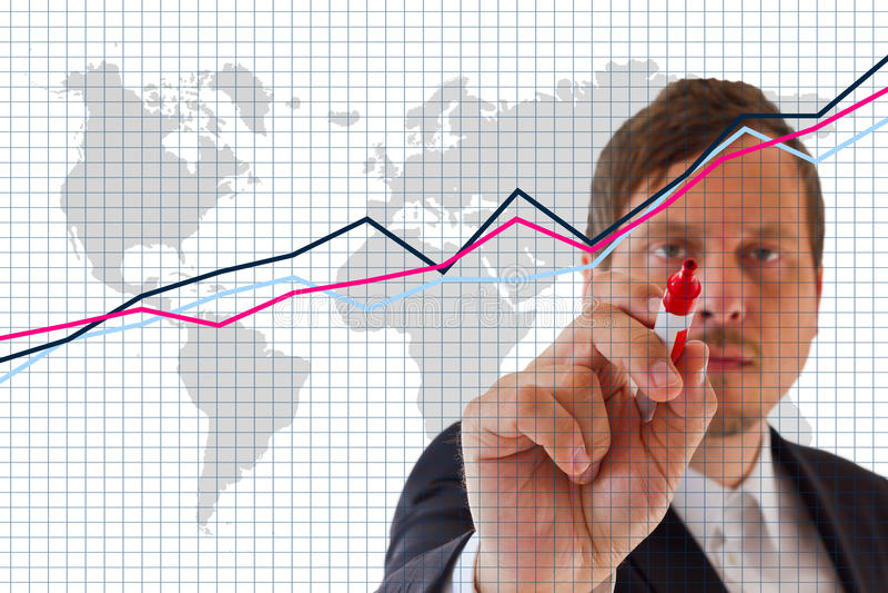 Market Analyze royalty free stock images