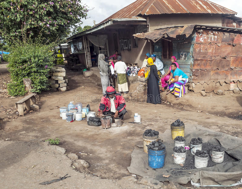 Market in Arusha. Of carbon, it is a picture taken in May 2014 stock image