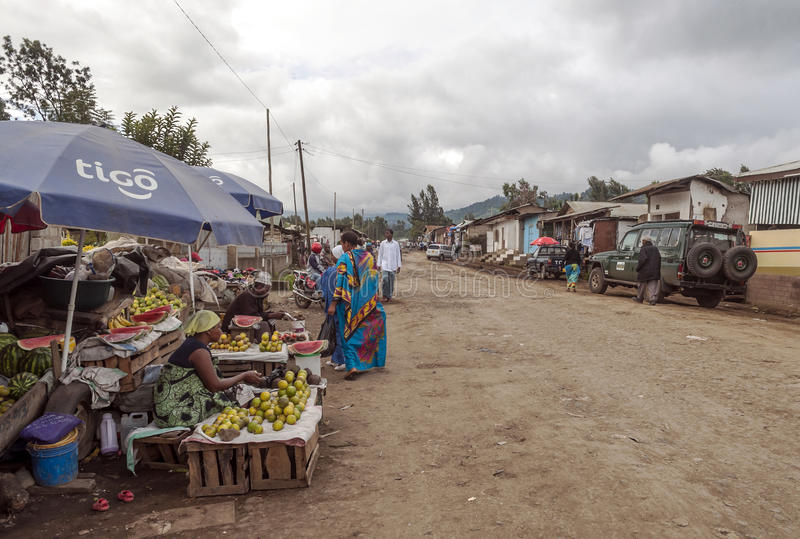 Market in Arusha. Fields where they are buying fruits, it is a picture taken in May 2014 royalty free stock image