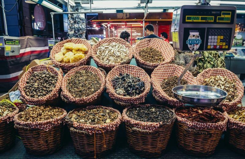 Market in Barcelona stock photo
