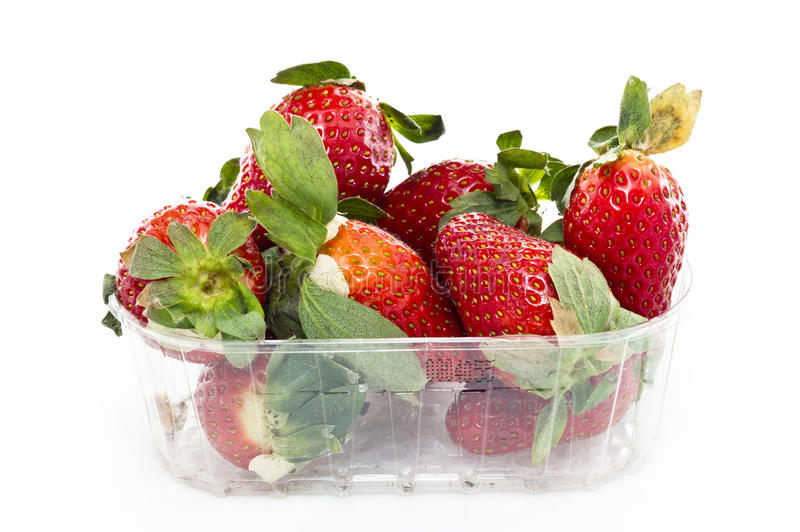 A market basket of strawberries royalty free stock image