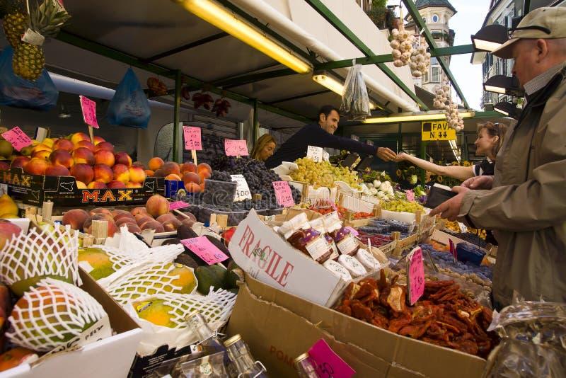 Market in Bolzano, Italy royalty free stock photo