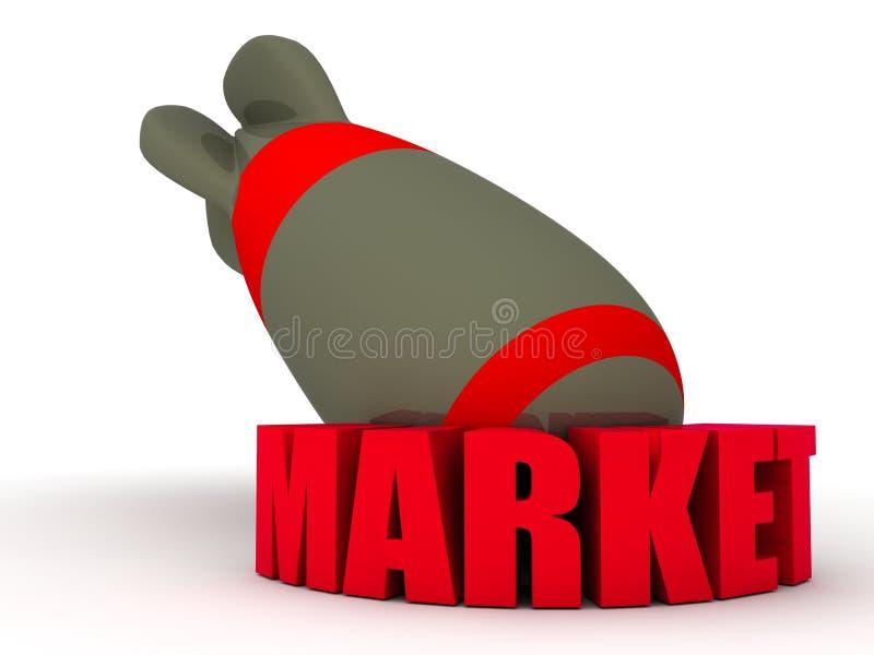 Download Market Bomb stock illustration. Image of lettering, napalm - 25281864