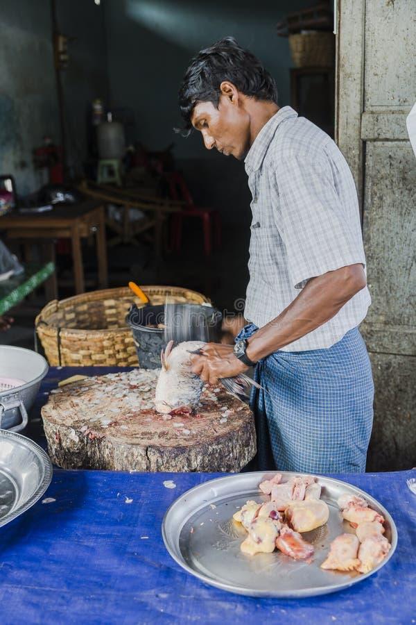 Market in Burma royalty free stock photo