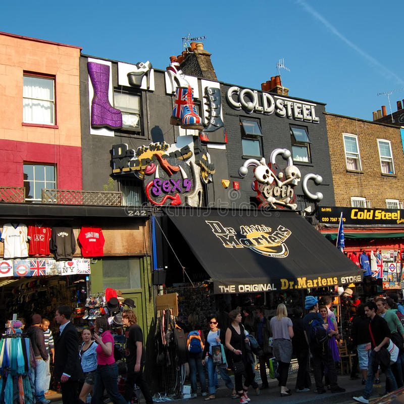 The Market At Camden Town In London Editorial Photography