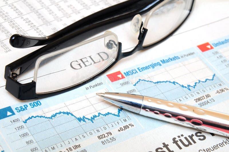 Market charts royalty free stock photos