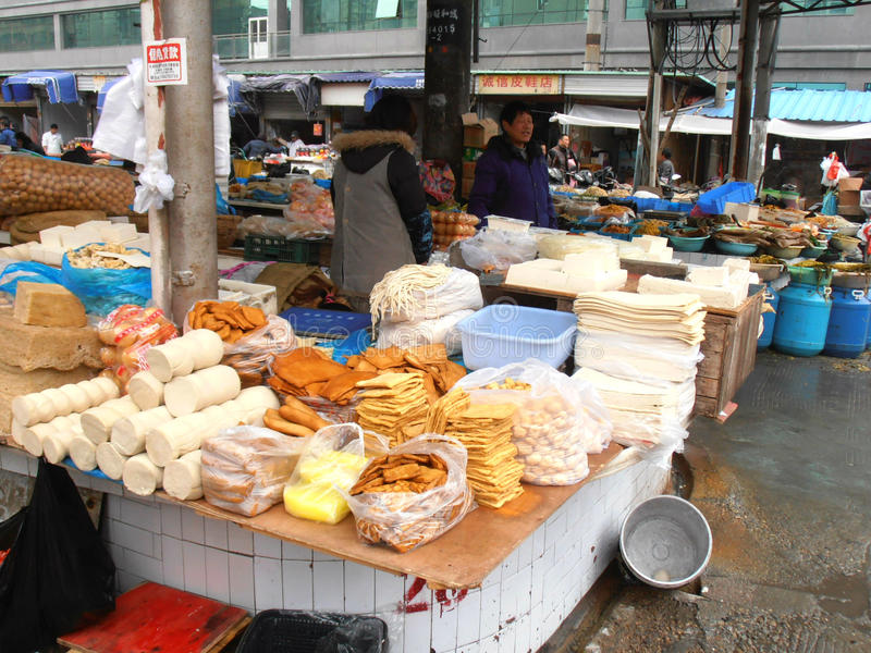 Market in china. This is the biggest market in the city Nantong in China. n royalty free stock images