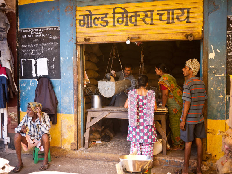 Market in the city india stock photography