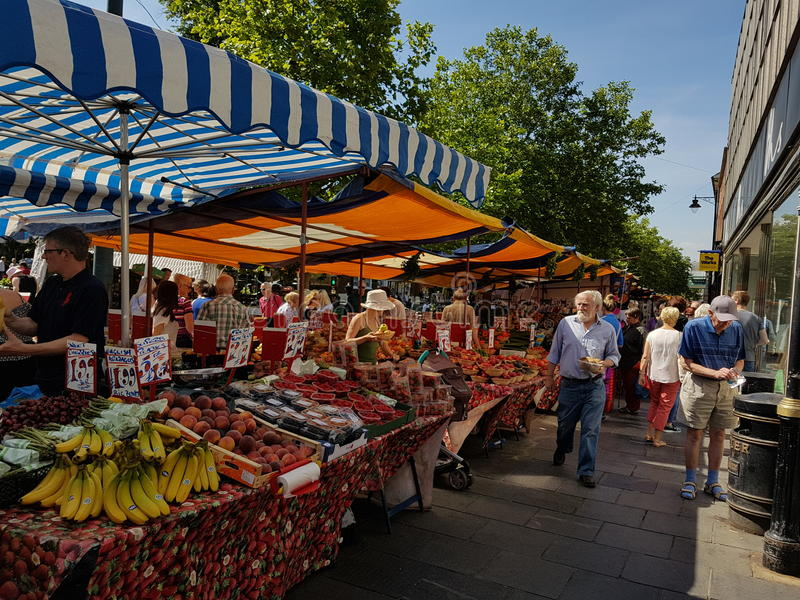 Market Day In St Albans stock photography