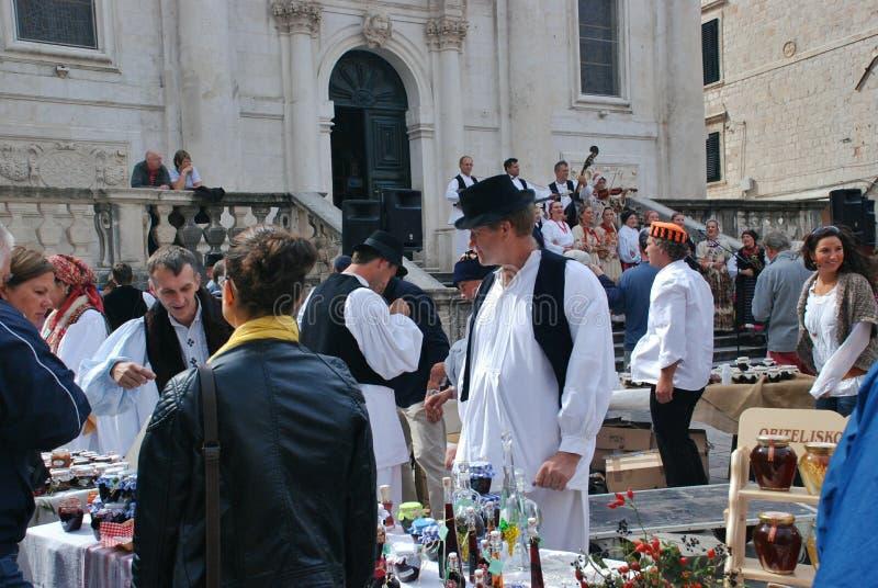 Market in Dubrovnik, Croatia royalty free stock photography