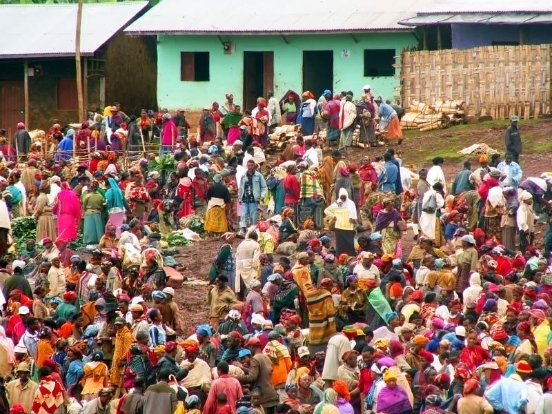 Market in Ethiopia stock image