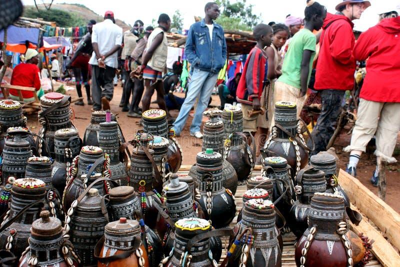 Market in Ethiopia royalty free stock photo