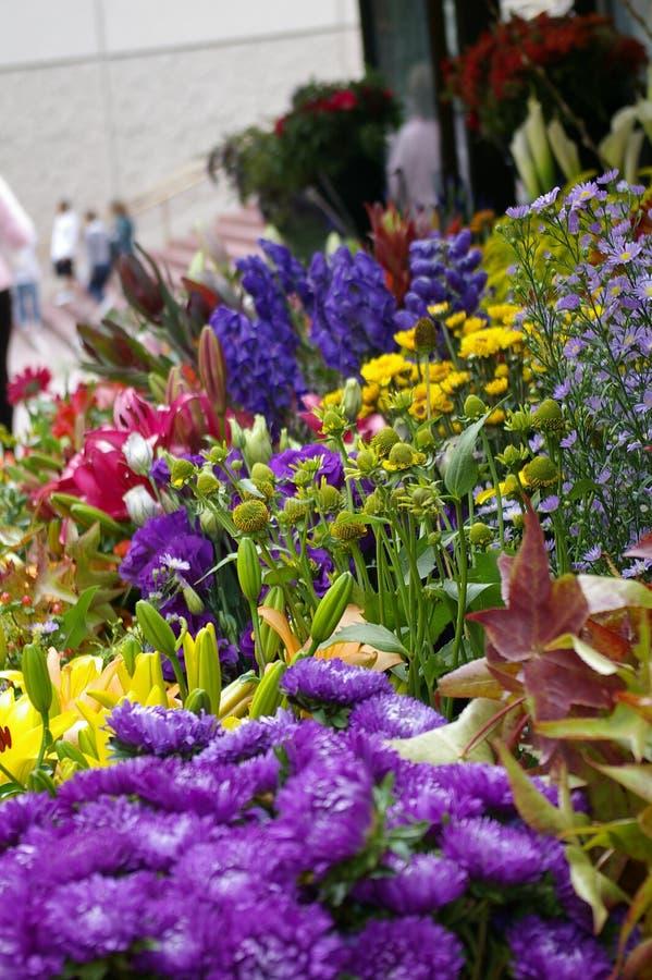 Market Flowers stock photo