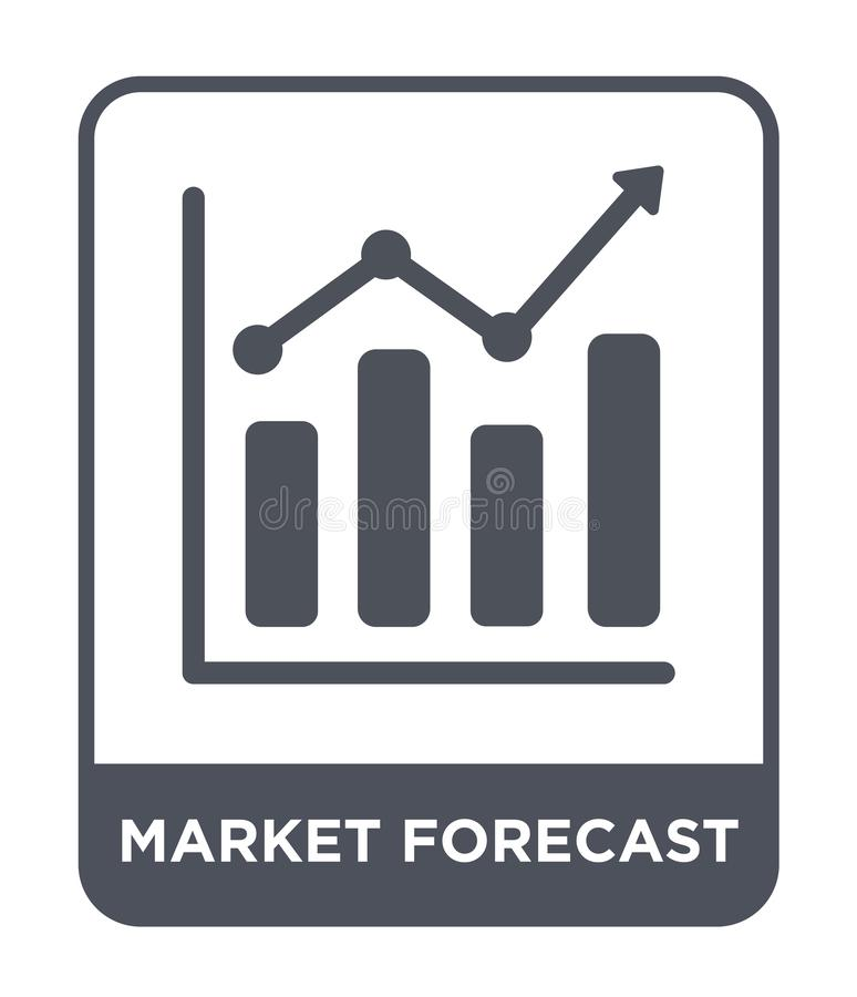 market forecast icon in trendy design style. market forecast icon isolated on white background. market forecast vector icon simple royalty free illustration