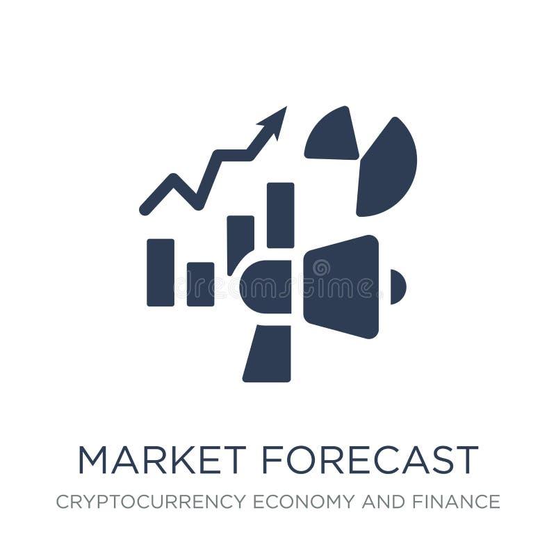 market forecast icon. Trendy flat vector market forecast icon on royalty free illustration