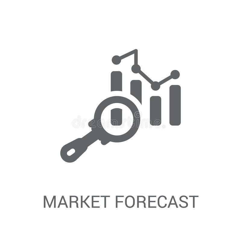 market forecast icon. Trendy market forecast logo concept on white background from Cryptocurrency economy and finance collection vector illustration