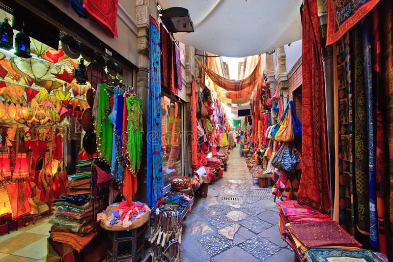 Market in Granada royalty free stock image