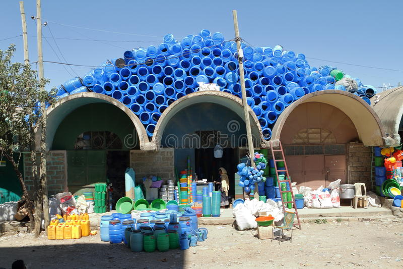 Market Hall of Mekele in Ethiopia. The Market Hall of Mekele in Ethiopia royalty free stock photo