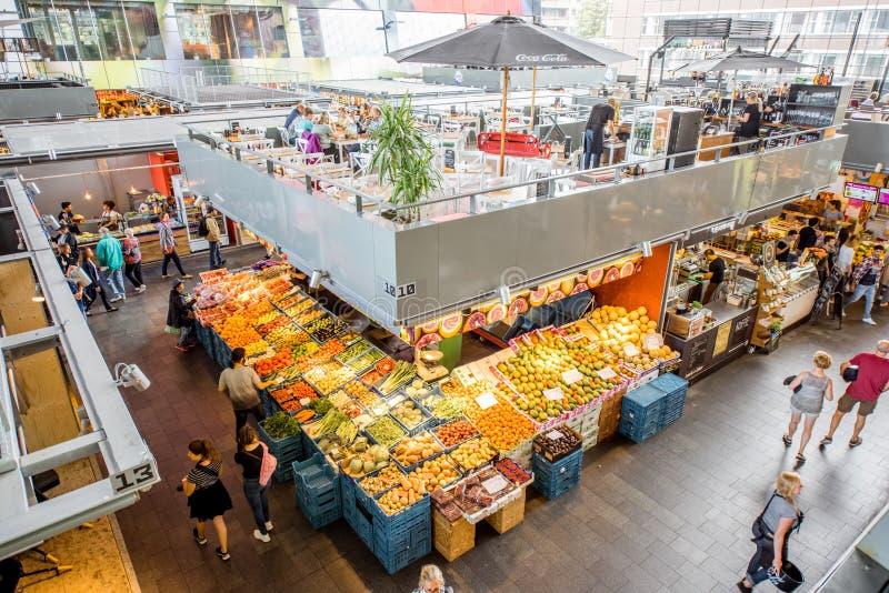 Market hall in Rotterdam stock image