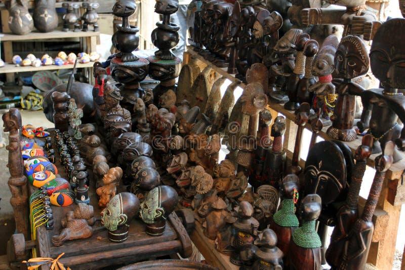Market of handicrafts, Douala, Cameroun royalty free stock image