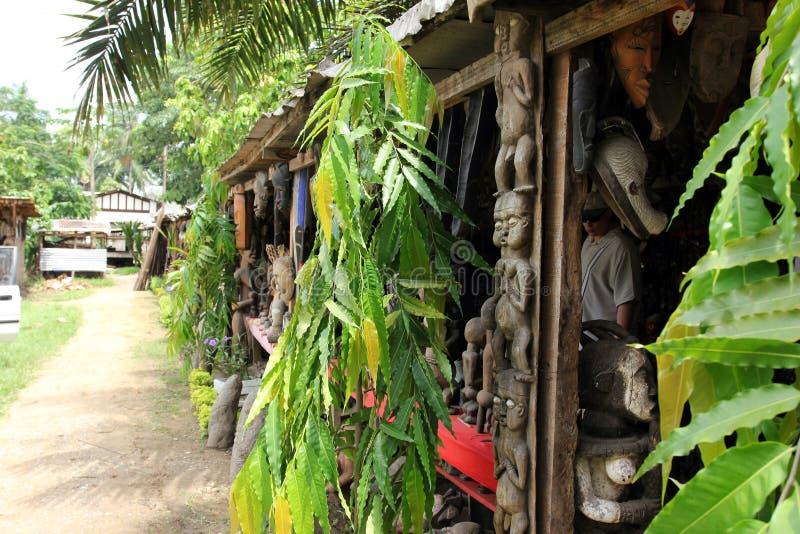 Market of handicrafts, Douala, Cameroun stock images