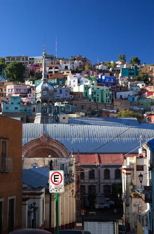 Market in the historic town of Guanajuato, Guanajuato, Mexico stock image