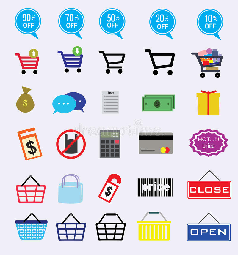 Market icon stock photography