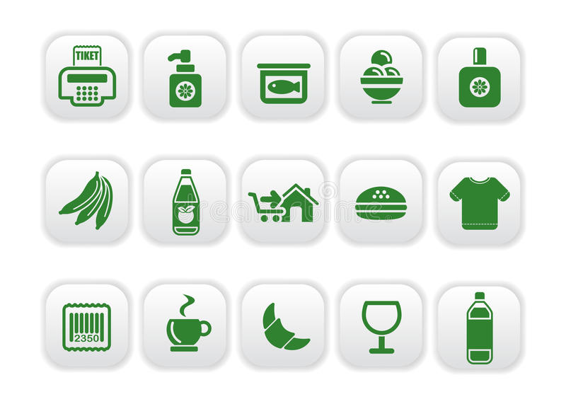 Download Market icons stock vector. Image of icons, number, perfume - 10271477
