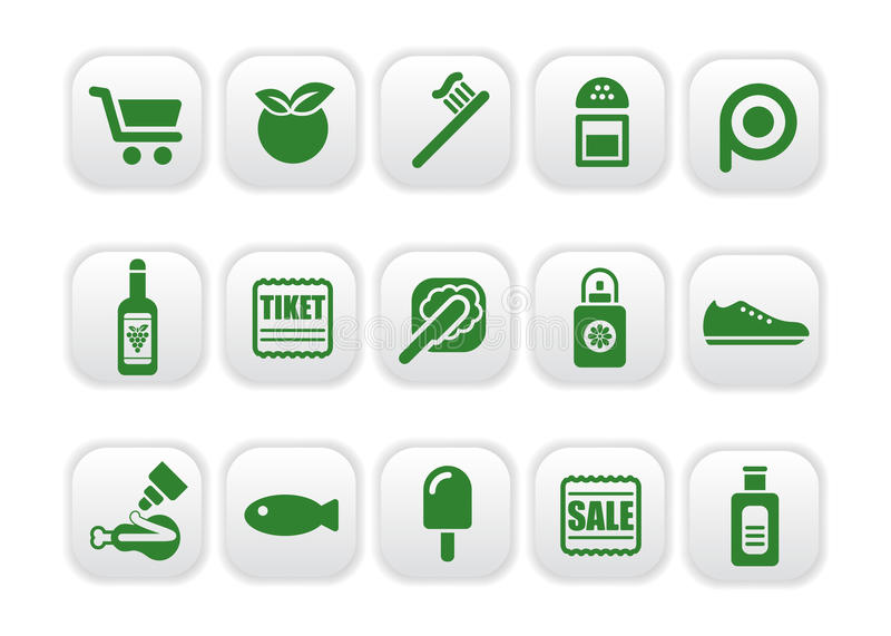 Download Market icons stock vector. Image of bread, perfume, oral - 10271488