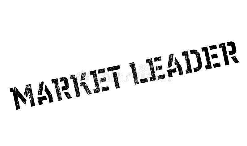 Market Leader rubber stamp. Grunge design with dust scratches. Effects can be easily removed for a clean, crisp look. Color is easily changed stock illustration