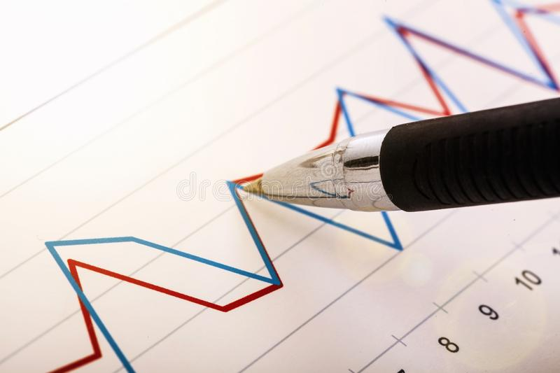 Market. Ing graph abstract share asset funds stock image