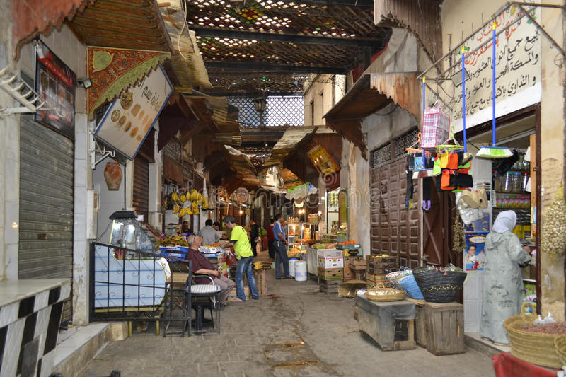 The market in Marrakesh, Morocco royalty free stock images