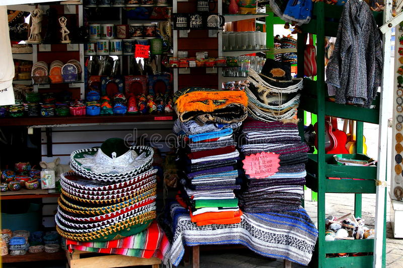 market mexikanen royaltyfria bilder