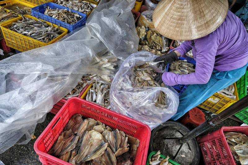 Market in My Tho, Vietnam stock photography