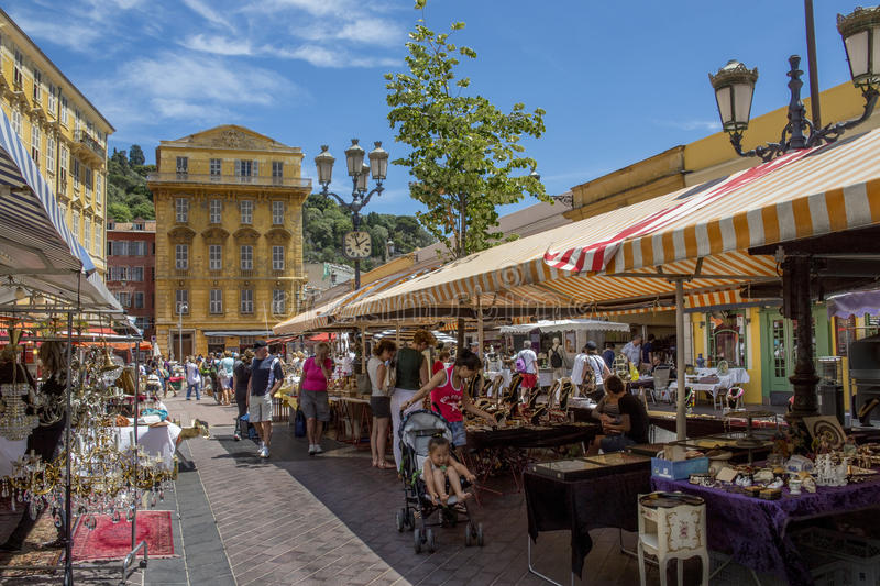 Market in Nice - South of France stock photos