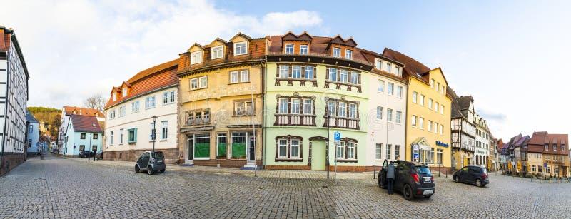Market place in Bad Frankenhausen royalty free stock image