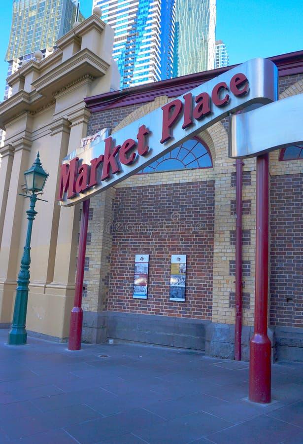 Market Place handstil royaltyfria foton