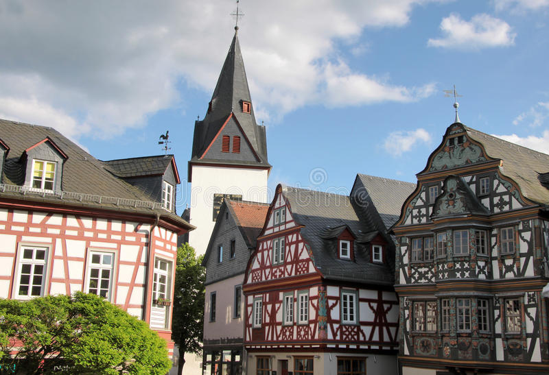 Market place in Idstein royalty free stock photography