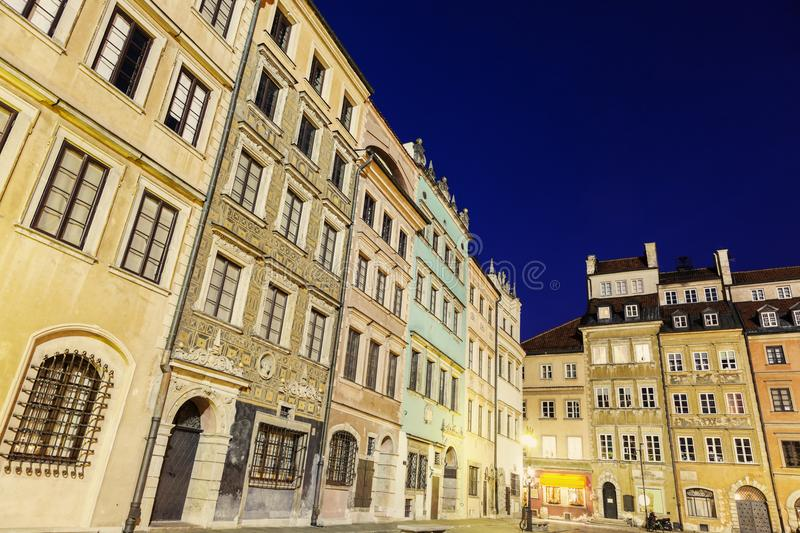 Market Place Old Town - Warsaw, Poland. Market Place Old Town evening time. Warsaw, Poland royalty free stock image