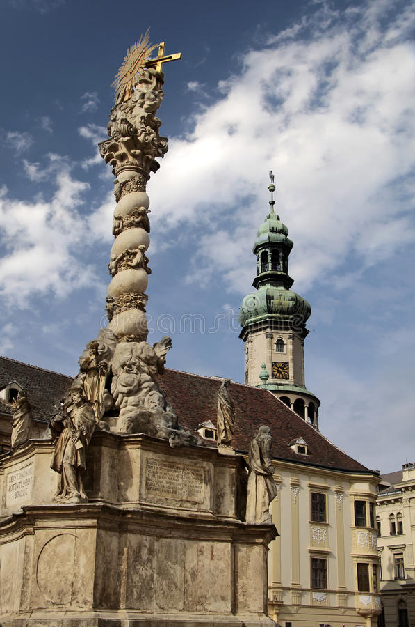 Market place of Sopron royalty free stock photography