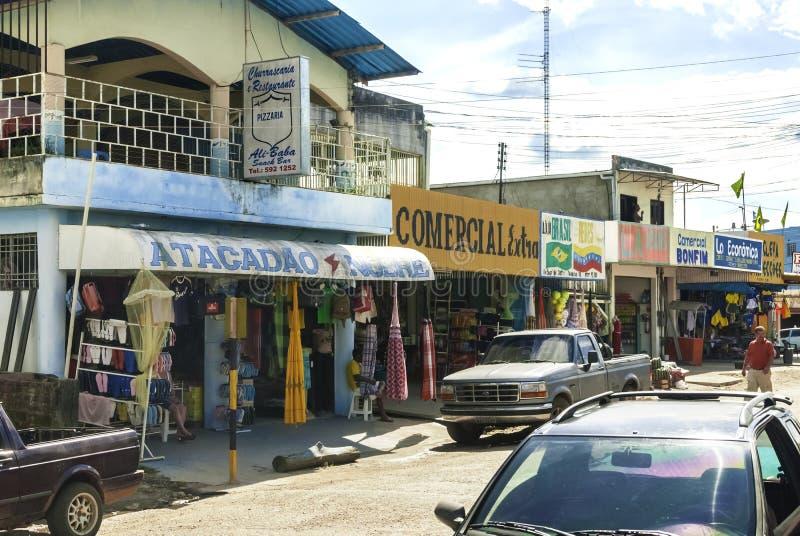 Market Place For Tourists in Pacaraima - Brazilian Village in Guyana upland, La Gran Sabana, Venezuela. Pacaraima is a brazilian village on the border with royalty free stock photo