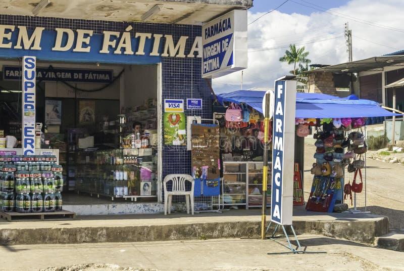 Market Place For Tourists in Pacaraima - Brazilian Village in Guyana upland, La Gran Sabana, Venezuela. Pacaraima is a brazilian village on the border with royalty free stock photos