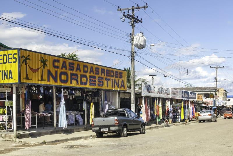 Market Place For Tourists in Pacaraima - Brazilian Village in Guyana upland, La Gran Sabana, Venezuela. Pacaraima is a brazilian village on the border with stock photography