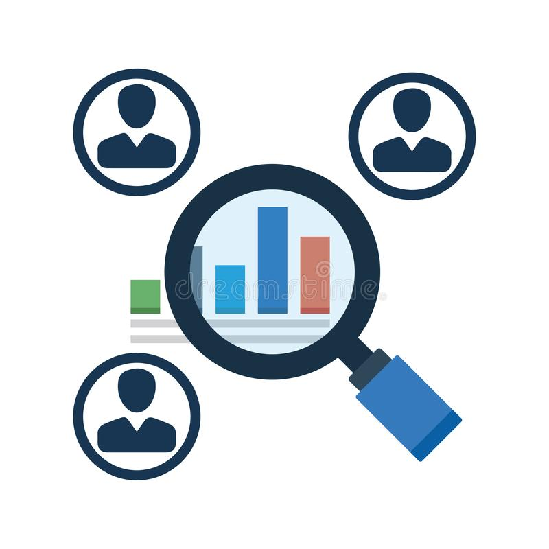 Market Research Icon stock illustration