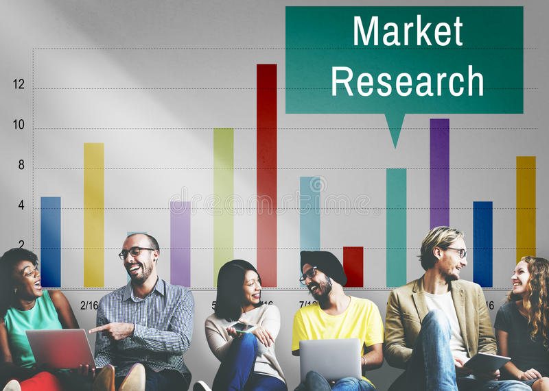 Market Research Analysis Consumer Marketing Strategy Concept stock photo