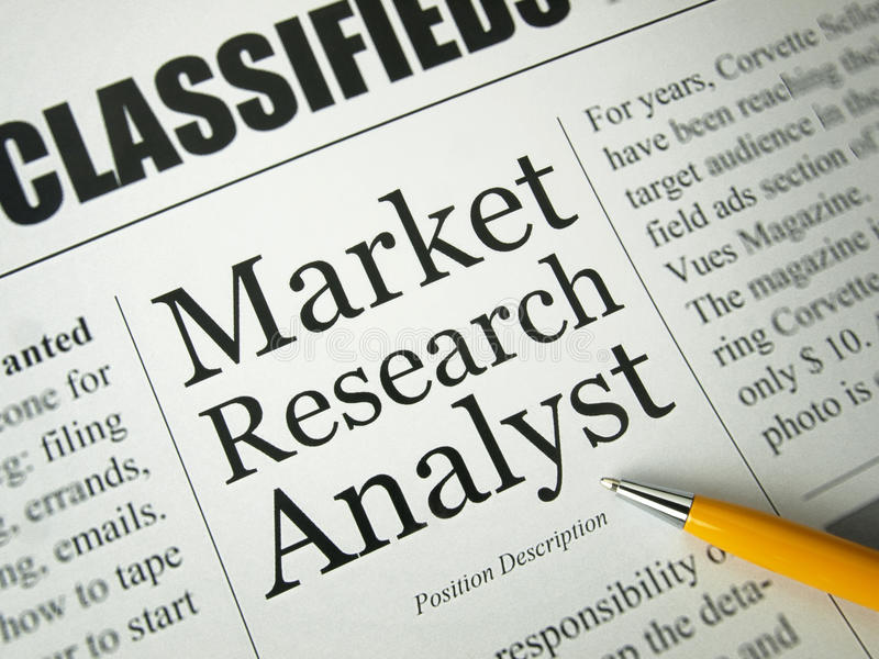 Market Research Analyst - Classified Advertising Stock Photo - Image ...